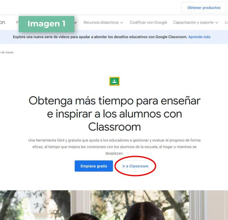 Google Classroom paso 1