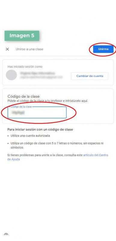 Google Classroom paso 5